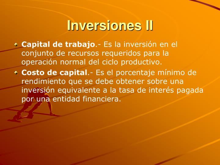 Inversiones II