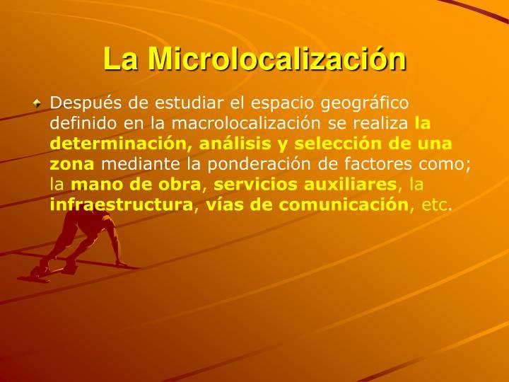 La Microlocalización