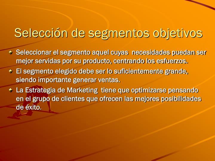 Selección de segmentos objetivos