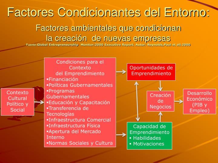 Factores Condicionantes del Entorno: