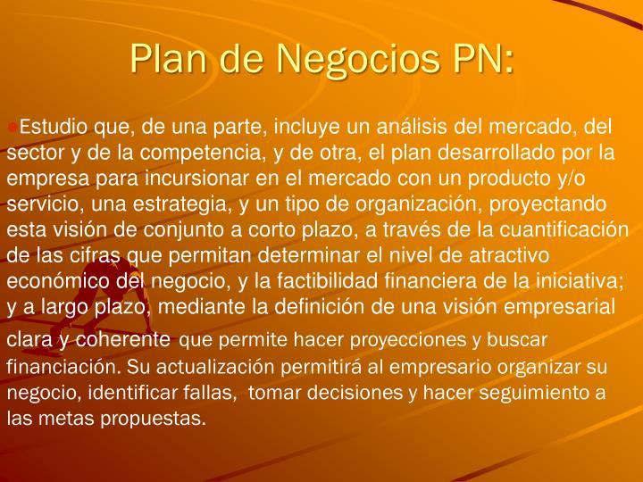 Plan de Negocios PN: