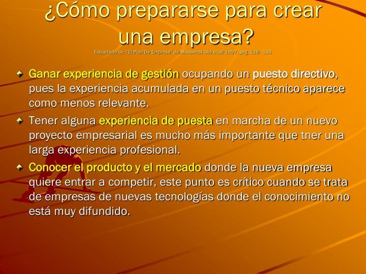 ¿Cómo prepararse para crear