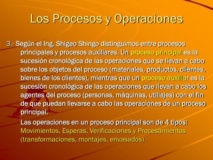 Los Procesos y Operaciones