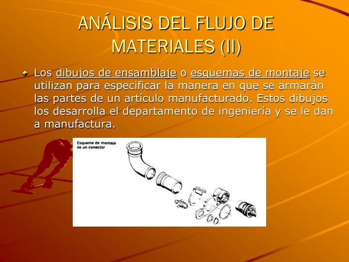 ANÁLISIS DEL FLUJO DE MATERIALES (II)