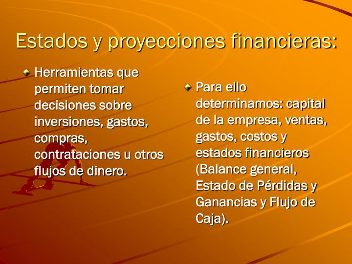 Estados y proyecciones financieras: