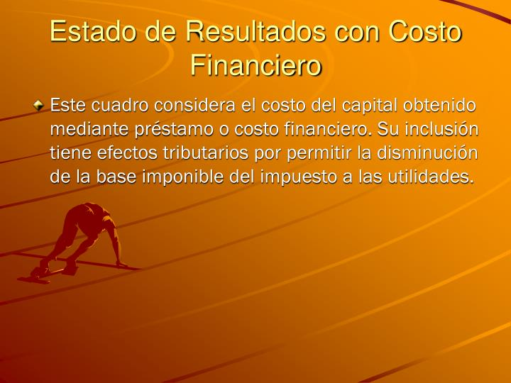 Estado de Resultados con Costo Financiero
