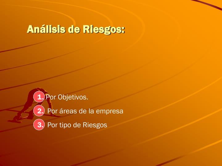 Análisis de Riesgos: