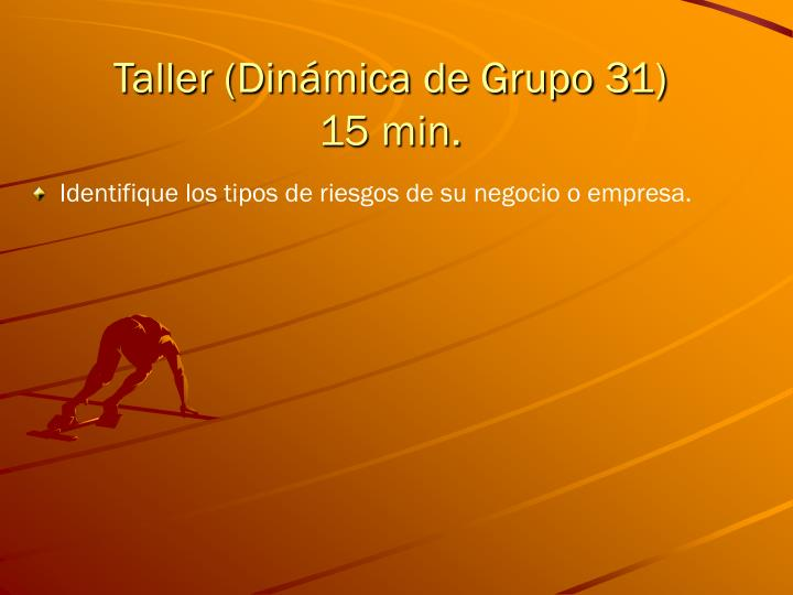 Taller (Dinámica de Grupo 31)