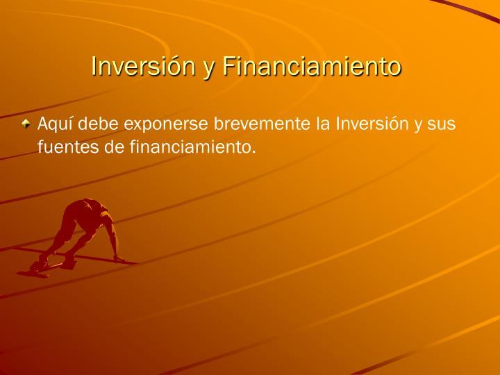 Inversión y Financiamiento