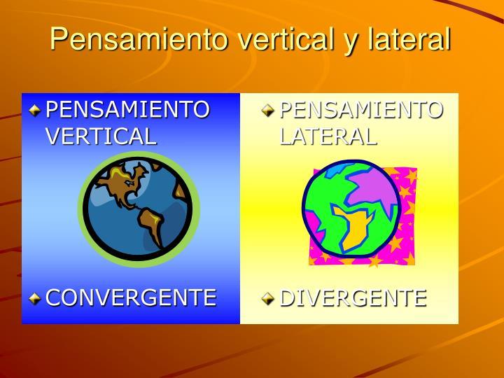 Pensamiento vertical y lateral