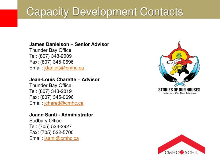 Capacity Development Contacts