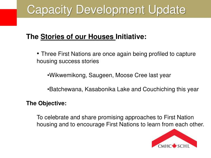 Capacity Development Update