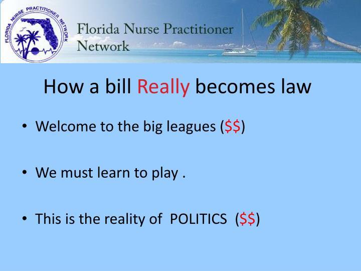 How a bill