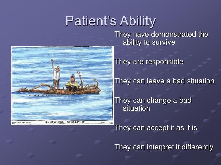 Patient's Ability