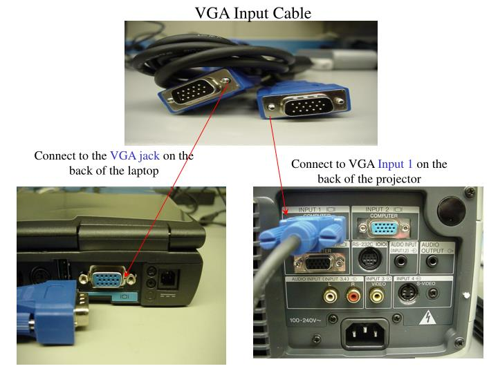 VGA Input Cable
