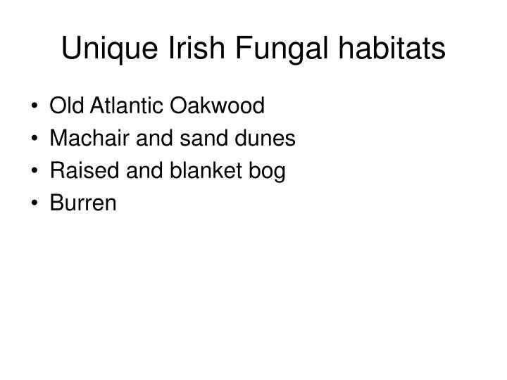 Unique Irish Fungal habitats
