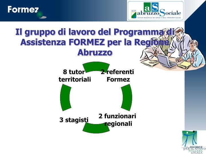 Il gruppo di lavoro del Programma di Assistenza FORMEZ per la Regione Abruzzo