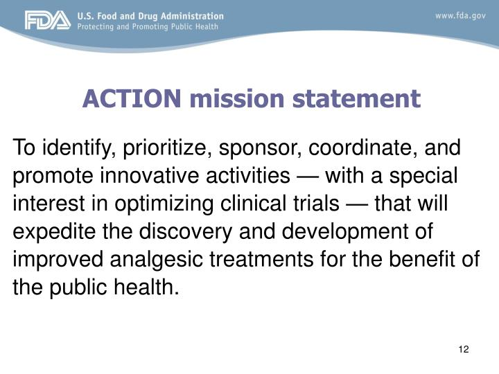ACTION mission statement