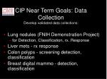 cip near term goals data collection develop validated data collections
