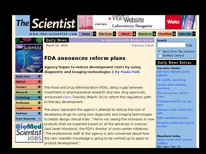 FDA reform plans