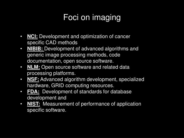 Foci on imaging