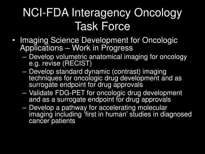 NCI-FDA Interagency Oncology Task Force