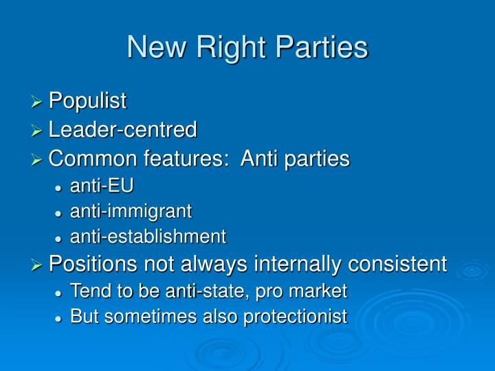 New Right Parties