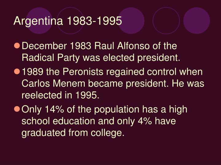 Argentina 1983-1995