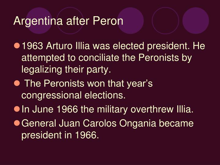 Argentina after Peron