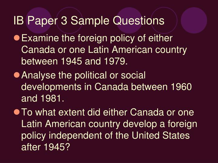 Ib paper 3 sample questions