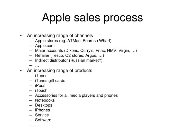 Apple sales process