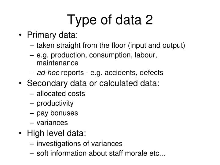 Type of data 2