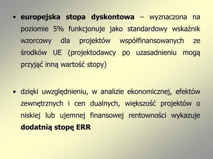 europejska stopa dyskontowa