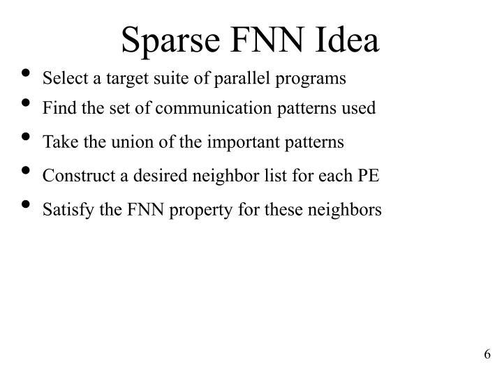 Sparse FNN Idea