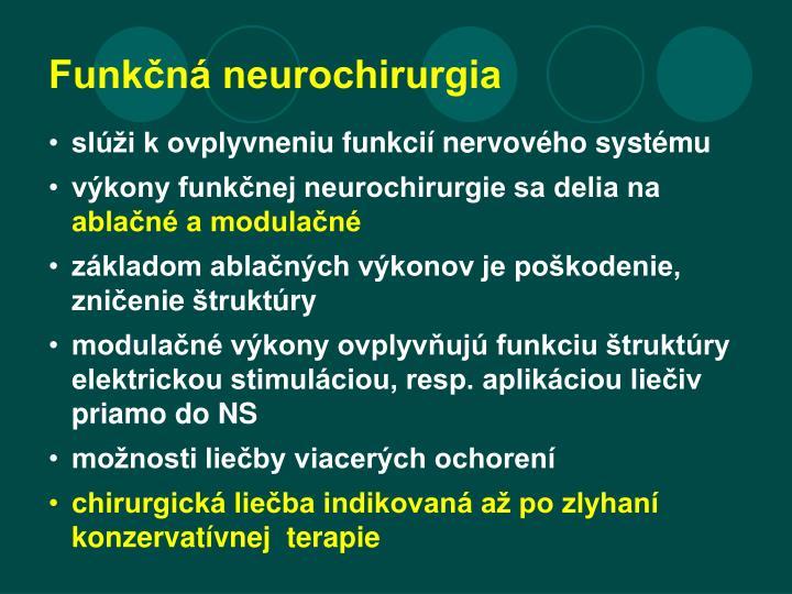 Funkčná neurochirurgia
