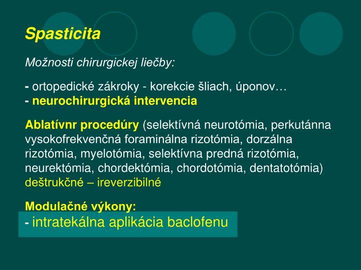Možnosti chirurgickej liečby: