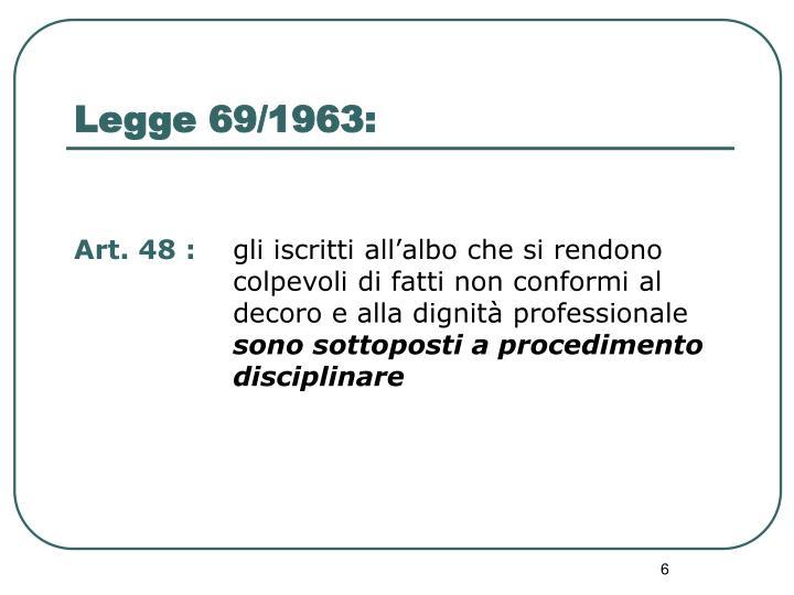 Legge 69/1963:
