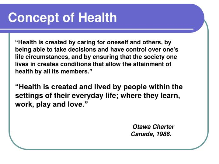 Concept of Health