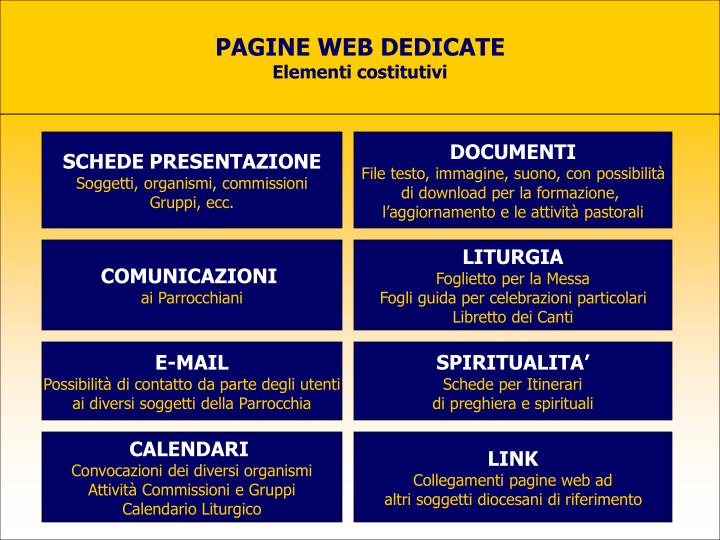 PAGINE WEB DEDICATE