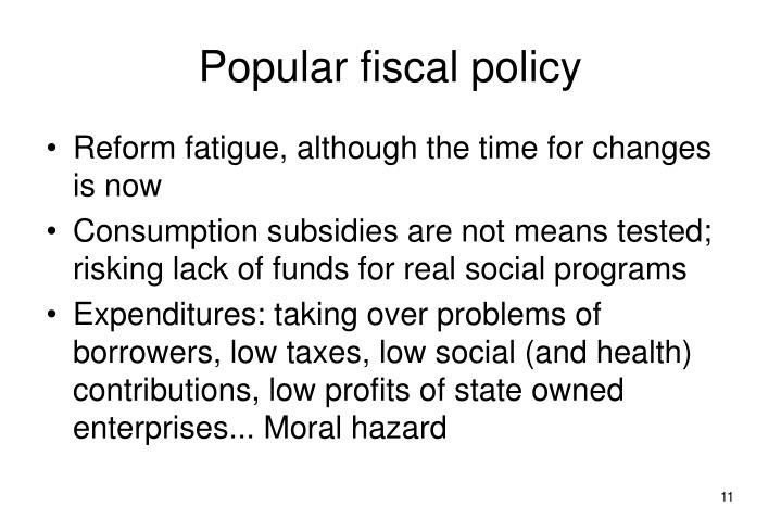 Popular fiscal policy