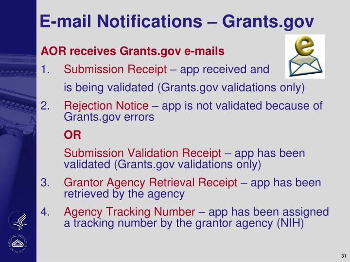 E-mail Notifications – Grants.gov