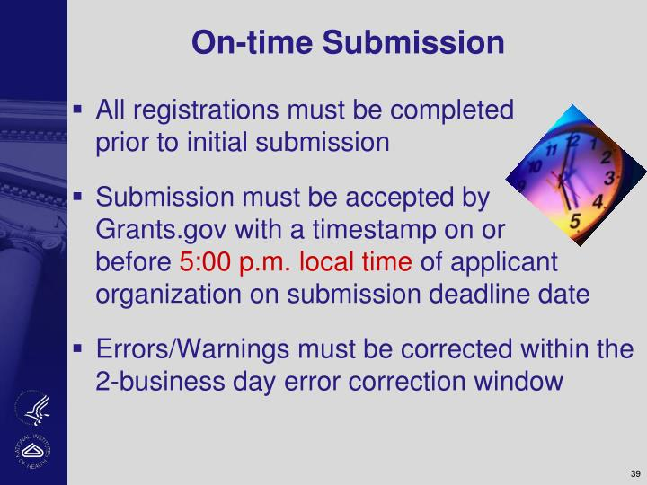 On-time Submission