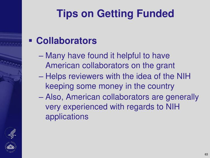 Tips on Getting Funded