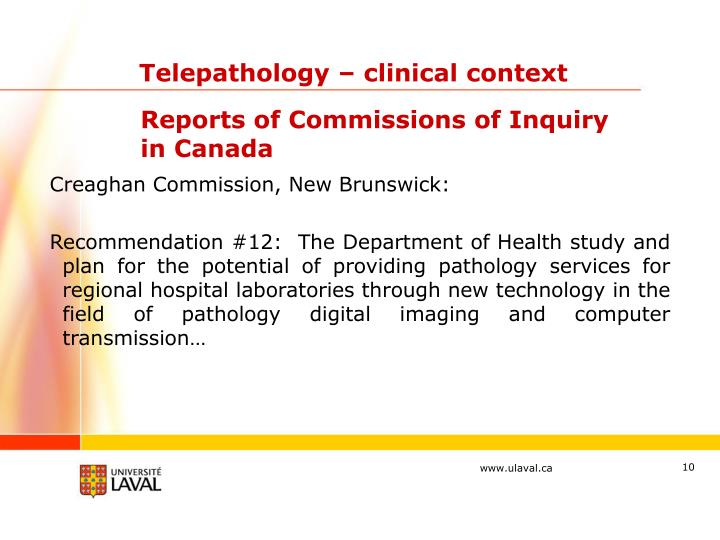 Telepathology – clinical context