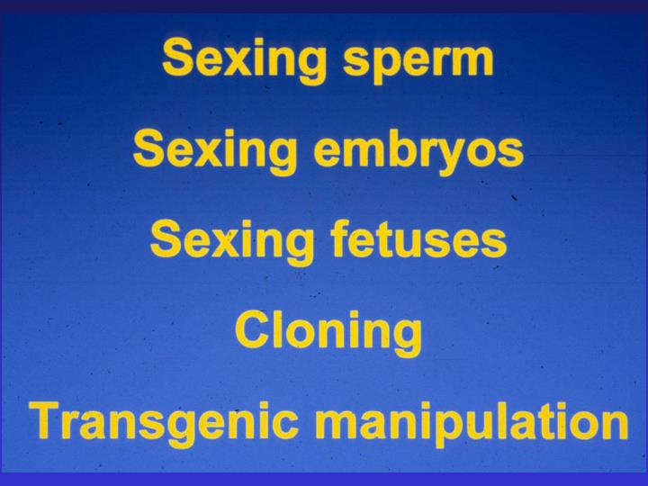 Patents on sexing sperm more than 10 patents