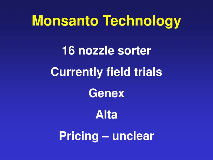 Monsanto Technology