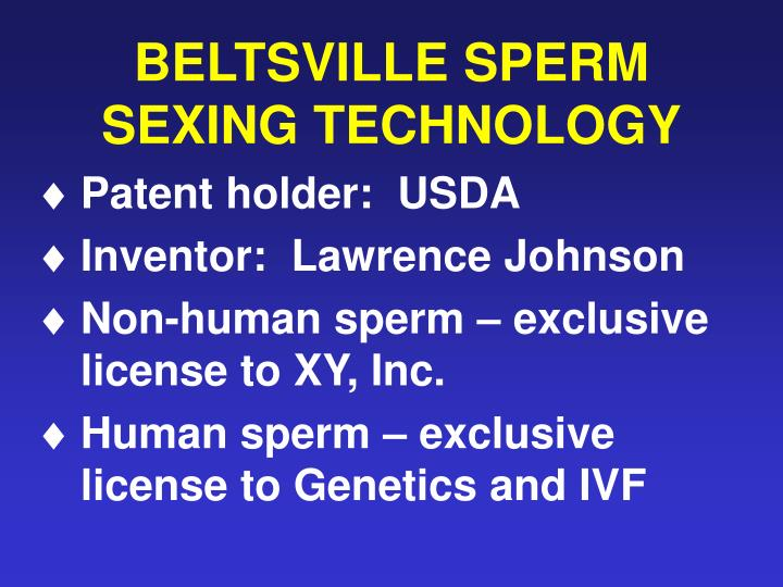BELTSVILLE SPERM SEXING TECHNOLOGY