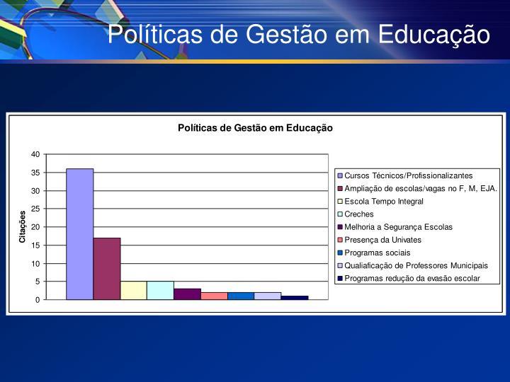 Políticas de Gestão em Educação