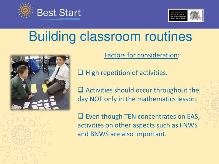 Building classroom routines