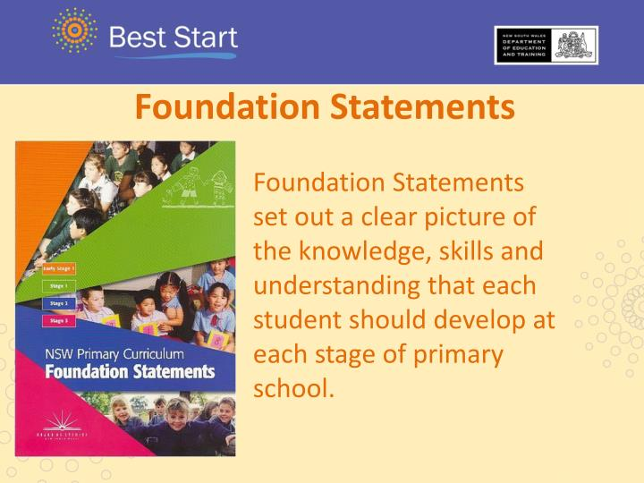 Foundation Statements
